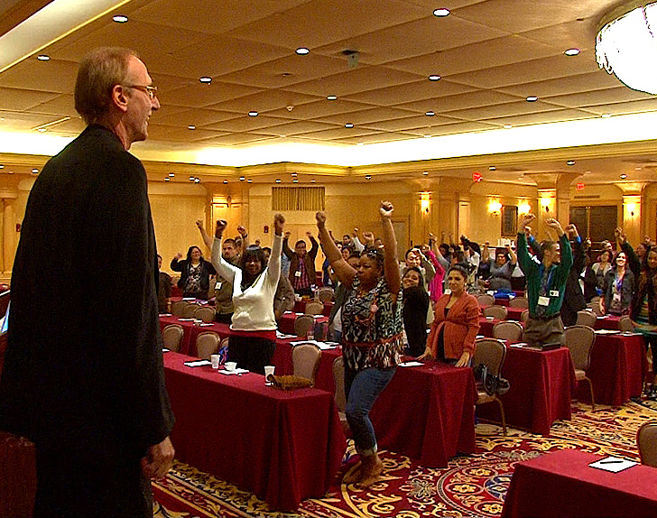 Joe Robinson delivers work-life balance keynote