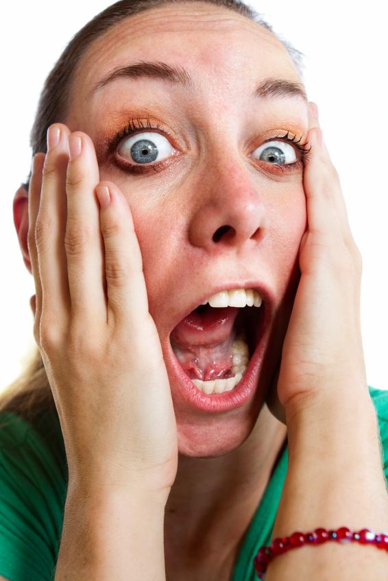 Screaming woman time urgency