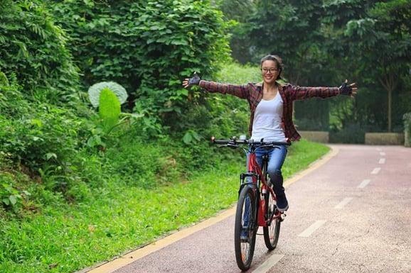 Bicyclist  having fun 868482084 tiny