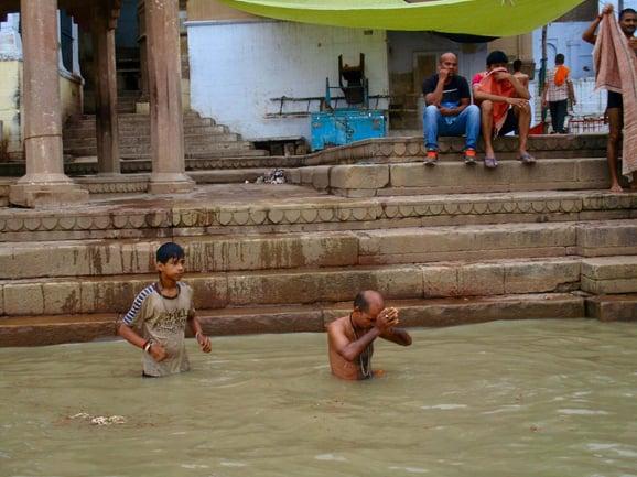 Pilgrim in Ganges copy