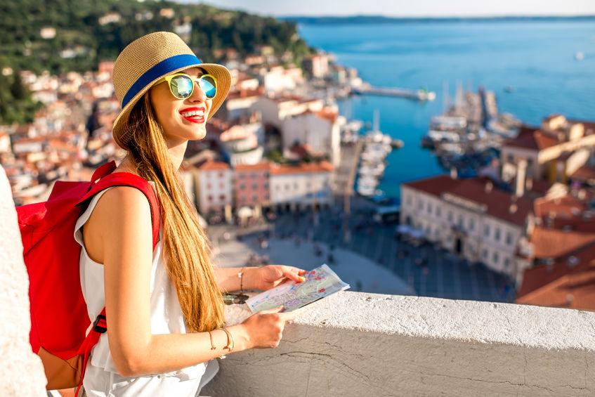 Small Travel girl Slovenia