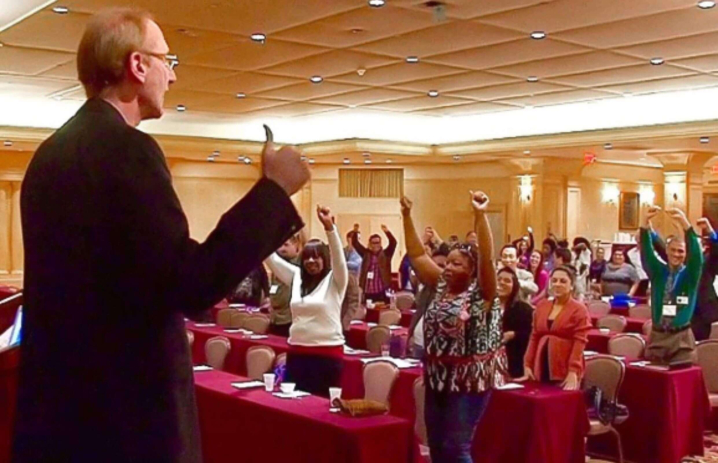 Joe Robinson gives work life balance training